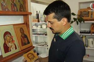 «Церковне закулісся» завітало до іконописної майстерні мукачівця (+Відео)